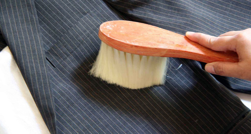 Brushing Bespoke Suit